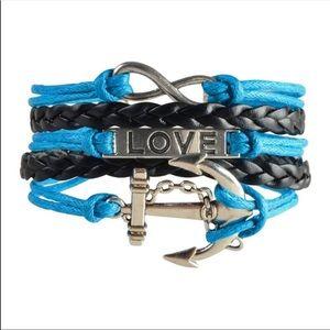 Jewelry - Women's leather cute infinity charm bracelet